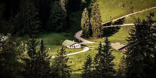 Blick vom Königsweg zur Königsbachalm