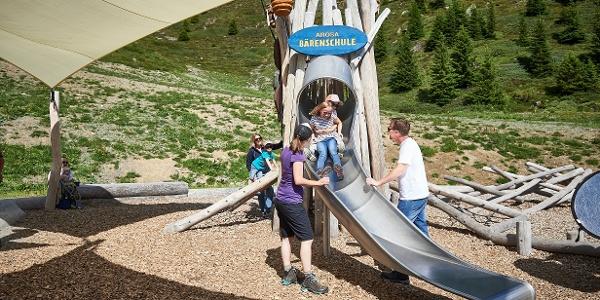 Rutschbahn Erlebnisspielplatz Bärenschule
