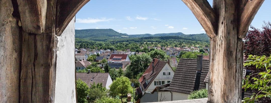 Aussicht vom Gomaringer Schloss
