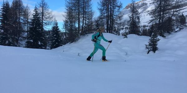 Skibergsteigen in der Nähe von Malga Vagliana