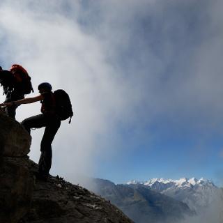 Am Tälli-Klettersteig.