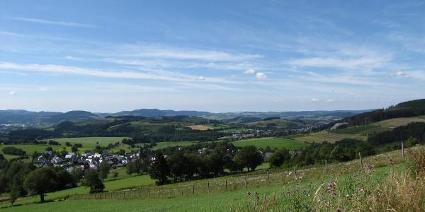 Panoramaweg oberhalb von Niedersorpe