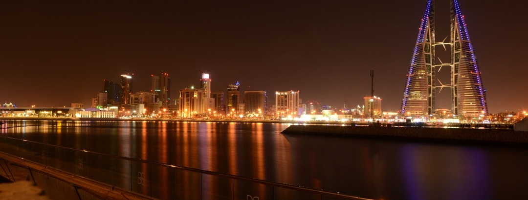 View to the skyline of Manama, Bahrain