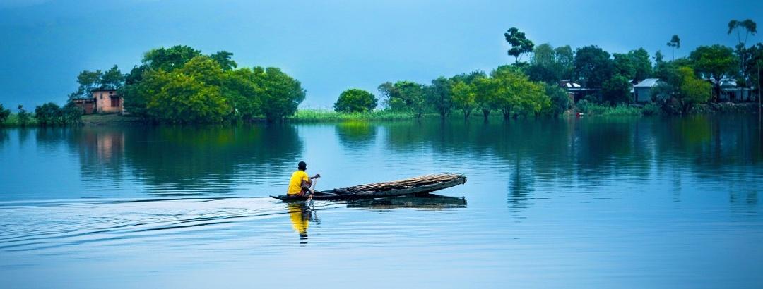 Wasserlandschaft in Bangladesch