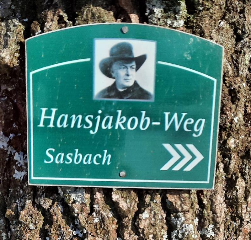 Achern: Hansjakob-Weg von der Illenau nach Sasbach -Rundweg-