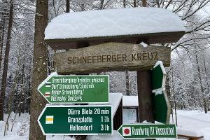 Foto Wegweiser am Schneeberger Kreuz