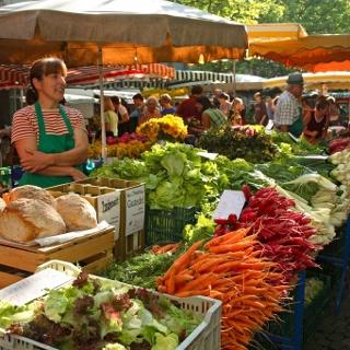 Wochenmarkt in Lörrach