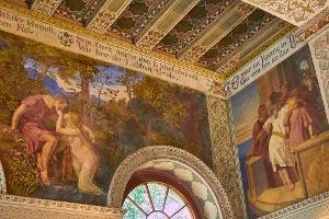 Foto Wandermalerei zu Ehren Goethes im Turmschlösschen Schöne Höhe