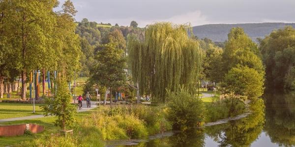 Blick auf den Emmerauenpark