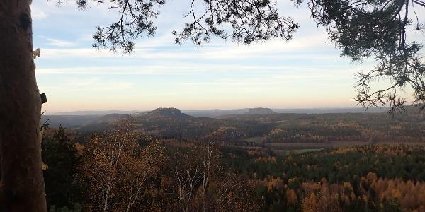 Blick vom Signal zum Quirl, Pfaffen-, König- und Lilienstein