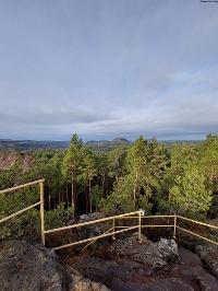Foto Aussicht vom Spitzen Stein zu den Tafelbergen