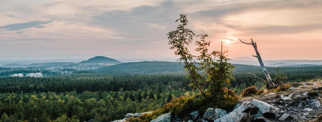 Ausblick vom Kahleberg