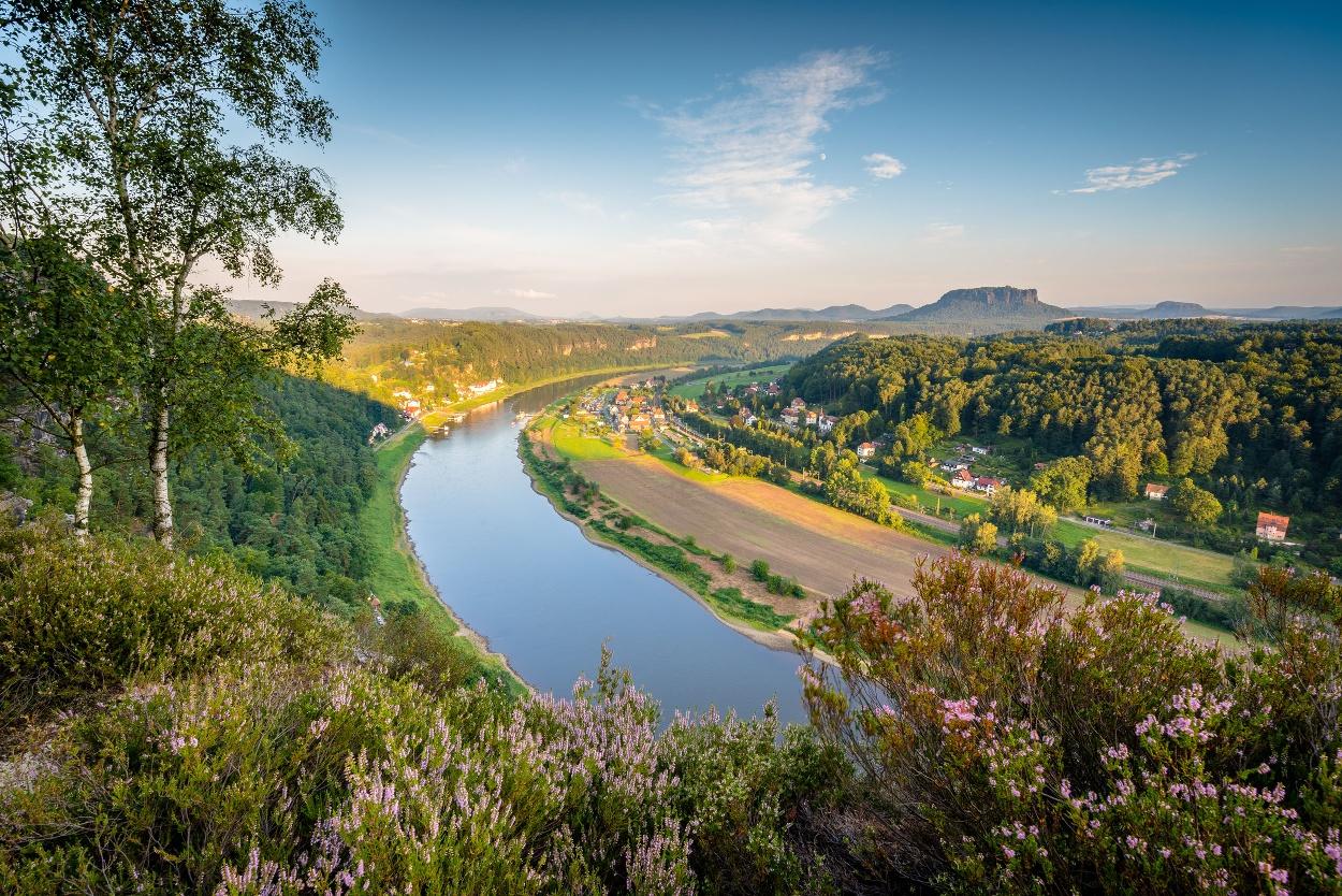 Basteigebiet Blick zur Elbe