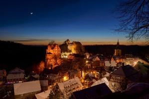 Foto Hohnstein im Winter