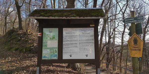 Tafel des Montanhistorischen Wanderweg