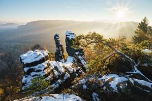 Foto Schrammsteine im Winter
