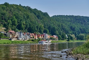 Foto Elbe bei Wehlen