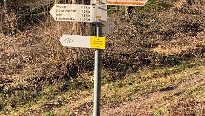 Umleitung Hotzenwald-Querweg