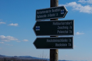 Foto Hohburkersdorfer Rundblick Wegweiser