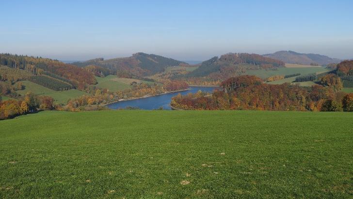 Sauerland-Rothaargebirge Nature Park near Lake Hennesee