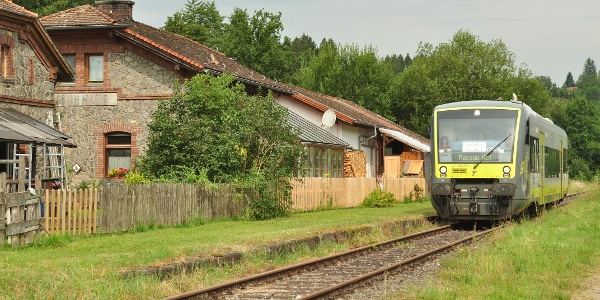 Startpunkt Bahnhof in Fischhaus - die Ilztalbahn bringt uns hin