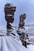 Foto Herkulessäulen im Winter