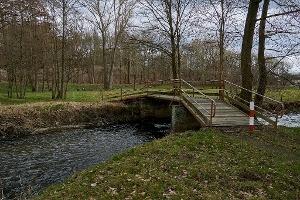 Foto Holzbrücke über die Wesenitz