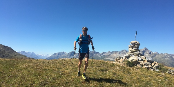 Trail runner in the Engadin