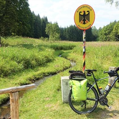 Die Mulde an der Grenze Tschechien/Deutschland