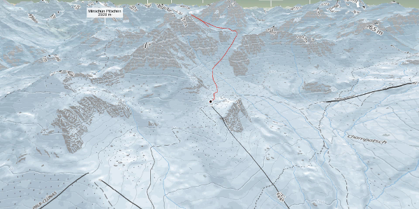 Skitour in Graubünden: Piz Minschun (3068 m.ü.M.)