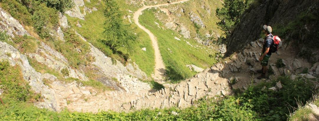 Abstieg über Steigle
