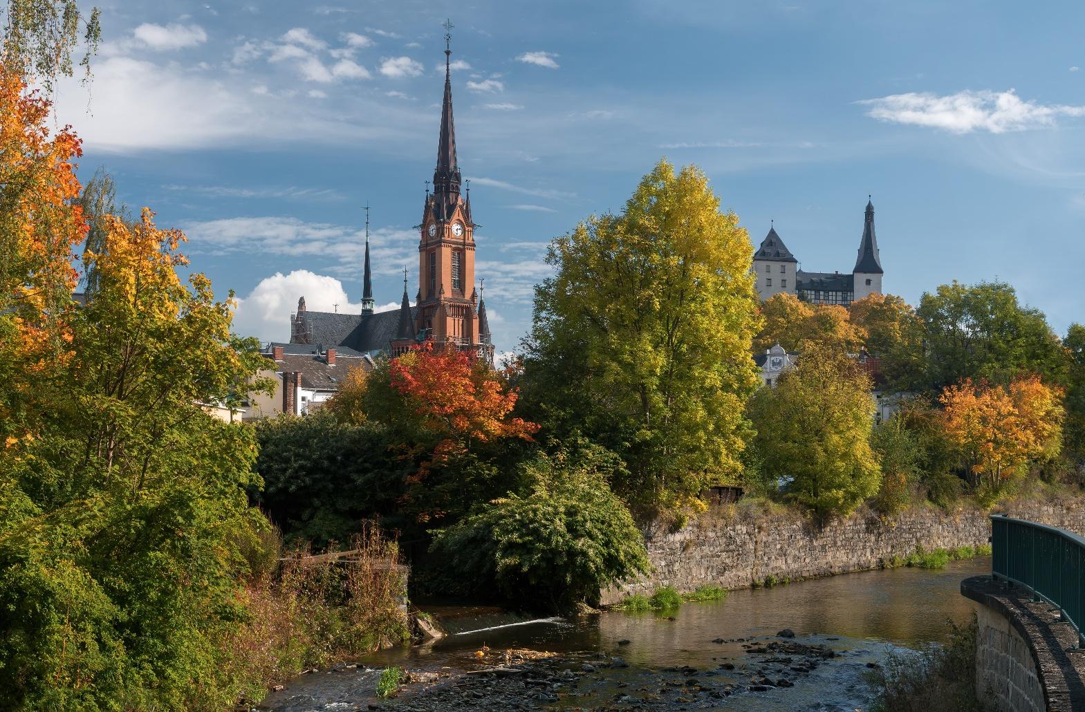 Kirche und Burg Mylau
