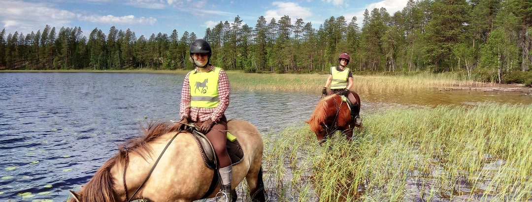On a long-distance horseback riding trip
