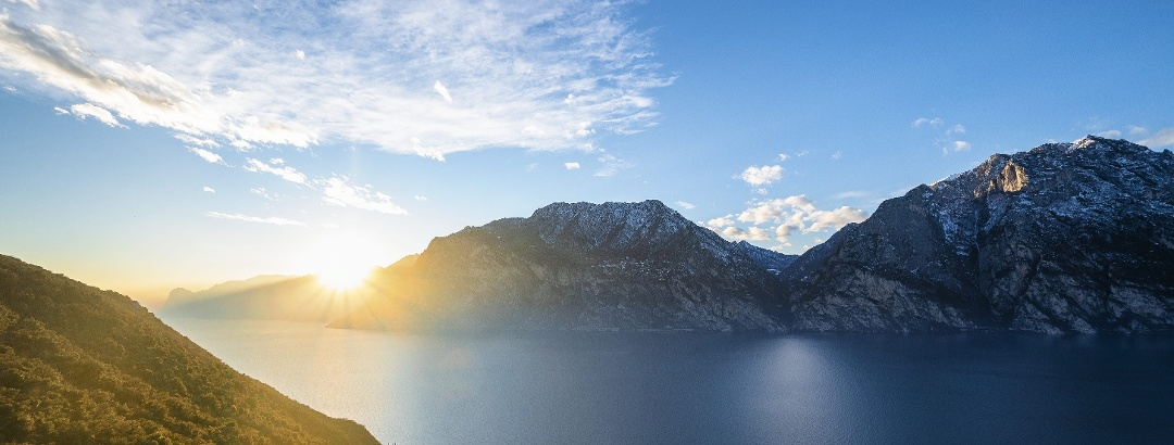 Lago di Garda - vista dal sentiero Busatte tempesta