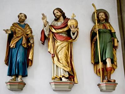 Würzburg - Marienkapelle Petrus, Jesus, Jakobus
