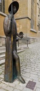 Rothenburg ob der Tauber - Jakobusstatue vor Jakobskirche