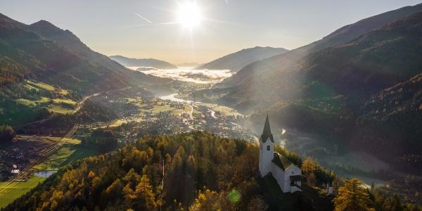 Der Danielsberg - ein Etappenziel am Alpe Adria Trail.