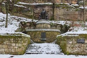 Foto Richard Wagner Denkmal im Liebethaler Grund