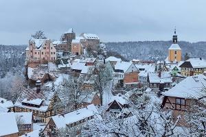 Foto Blick auf Hohnstein vom Kasper-Pfad aus