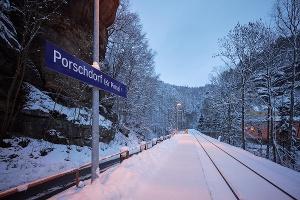 Foto Bahnhof Porschdorf Nationalparkbahn