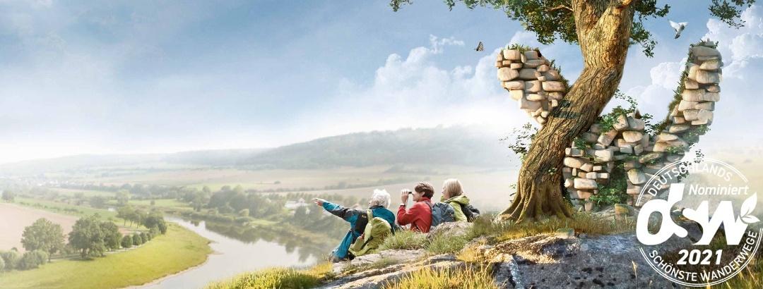 """Weserbergland-Weg nominiert als """"Deutschlands schönster Wanderweg"""" 2021"""