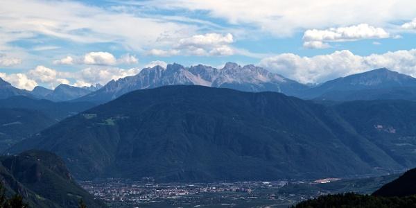 Mit dem Mountainbike über den Kohlerer Berg ins Latemar-Gebiet