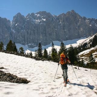 Aufstieg durchs Laliderer Tal