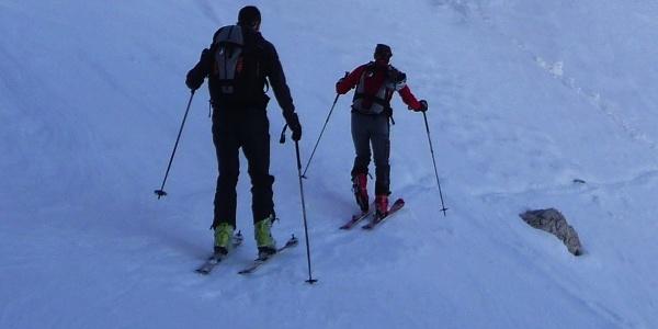 Skitour auf den 2.730 m hohen Gipfel desHohen Diebes im Zufrittkamm derOrtler-Alpen.