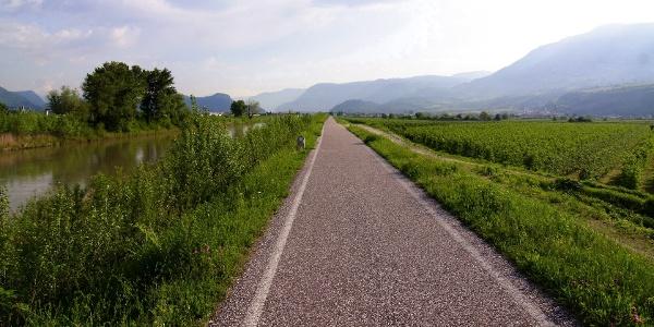 Auf dem Südtirol Radweg quer durchs ganze Land.