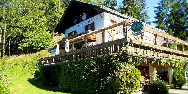 Ausgangspunkt der Wanderung ist das Gasthaus Jägerrast oberhalb von Schenna