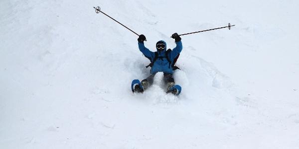 Schneespaß bei der Wintertour zum Putzer Kreuz und Jenesinger Jöchl.