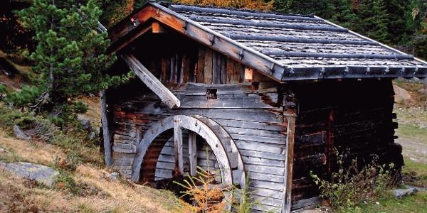 Eine Kornmühle an einem Bächlein am Stallwieshof