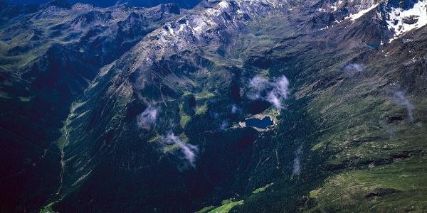 Im hintersten Ultental,links das Kirchbergtal.