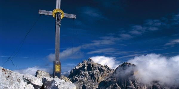 Summit cross on Paternkofel mountain